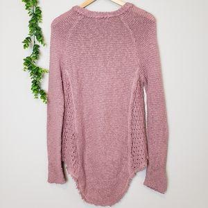 Sweaters - Boho Blush Pink Knit Sweater